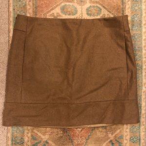 J.Crew Tan Wool Mini Skirt with Pockets
